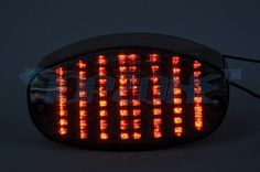 LED Motorcycle Tail Light (Integrated Turn signal) For YAMAHA ...