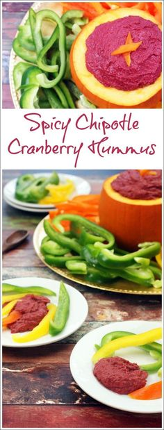 Spicy Chipotle Cranberry Hummus