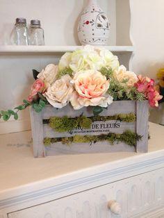Vintage boîte de fleurs