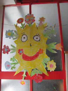 jarní sluníčko-společné tvoření dětí