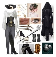 A fashion look from October 2016 featuring Paige Denim jeans, Carlos by Carlos Santana boots and Black Pearl jewelry. Browse and shop related looks. Edgy Outfits, Cosplay Outfits, Cosplay Costumes, Cool Outfits, Fashion Outfits, Nerd Fashion, Punk Fashion, Lolita Fashion, Fashion Boots