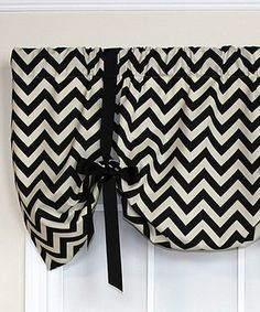 Look at this Chevron Tie-Up Valance Panel on today! Chevron Valance, Tie Up Valance, Valance Curtains, Tied Up, Heather Grey, That Look, Room Decor, Beautiful, Home