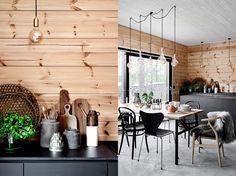 MY WORK: SISUSTUSSUUNNITTELIJANA MESSUTALO HONKA INK Vielä muutama yö aikaa ja sitten pitkän työprojektin tulos on nähtävillä. Mikkelin... Cabin Interior Design, Chalet Interior, House Design, Cabin Homes, Log Homes, Knotty Pine Decor, Plank Walls, Cabin Interiors, Wooden House