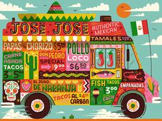 Food truck illustration we created for a Joseph & Joseph worktop saver.  You can get your hands on one here: http://bit.ly/2lga1HX