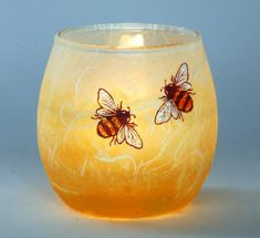 Bee candle holder small-lovely gift decorated strawsilk