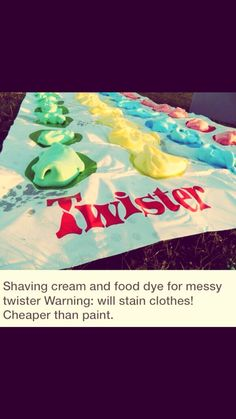 Messy Twister! #Games #Trusper #Tip Messy Twister, Twister Game, Food Dye, Life Goals, Summer Fun, Fun Stuff, Youth, Party Ideas, Activities