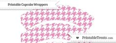 free-pastel-bubblegum-pink-houndstooth-pattern-scalloped-cupcake-wrappers-to-print