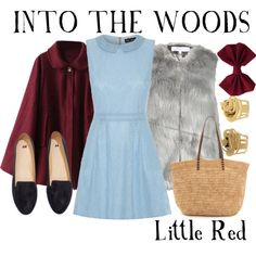 Into the Woods: Little Red by missgranger on Polyvore featuring Mela Loves London, H&M and Bop Basics