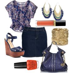 """""""Summer Blues - Plus Size"""" by alexawebb on Polyvore"""