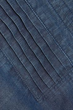 A.P.C. Atelier de Production et de Création - Jess Pintucked Cotton-chambray Dress - Mid denim - FR36