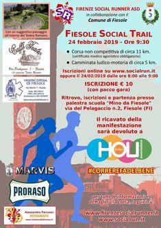 Fiesole Social Trail 2019 - 2a edizione si svolgerà il giorno 24/02/2019 a Fiesole (Fi) sulla distanza di 11Km e 5Km. #corriqui