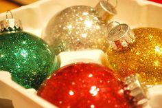 Girls Covered in Glitter | All Christmas'ed up :)