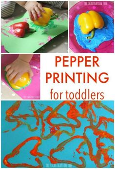 with Peppers Pepper printing art activity for toddlers and preschoolersPepper printing art activity for toddlers and preschoolers Food Activities For Toddlers, Preschool Food, Lesson Plans For Toddlers, Preschool Crafts, Teaching Activities, Infant Activities, Kids Crafts, Vegetable Crafts, Veggie Art