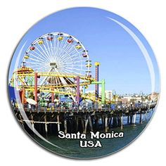 Weekino Santa Monica Pier Amerika USA Kühlschrankmagnet 3D Kristallglas Tourist City Travel Souvenir Collection Gesch... Santa Monica, Travel Souvenirs, Refrigerator, 3d, City, Collection, Beautiful Patterns, Nice Designs, Keepsakes