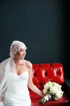 While battling cancer, this courageous bride had the wedding of her dreams. Juliet Cap Veil designed by The Plumed Serpeant - plumedserpentbridal.com. Read more of the story - and see more beautiful pics here: http://www.StyleMePretty.com/2014/05/12/courageous-bride-proves-bald-is-beautiful/  Photography: Andrea Jacobson For The Observatory - observatoryphoto.com