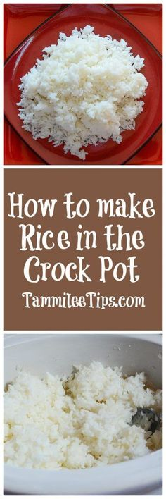 How to make rice in the crock pot! The slow cooker is the perfect way to make this easy rice recipe. You can easily add in chicken or vegetables if you want to with this recipes.