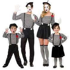 Family Costume Inspiration For The Hong Kong Sevens Purim Costumes, Group Costumes, Carnival Costumes, Circus Family Costume, Family Halloween Costumes, Halloween 2020, Pierrot Kostüm, Costume Famille, Mime Marceau