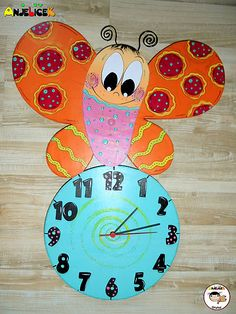 anjelicek / Hodiny - motýľ Clock, Wall, Home Decor, Watch, Decoration Home, Room Decor, Clocks, Walls, Home Interior Design