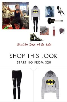 """Studio Day with Ashton"" by allme-allday ❤ liked on Polyvore featuring Miss Selfridge, Converse and Jeffree Star"