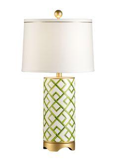 "FineHomeLamps.com - Bamboo Squares Green Porcelain Lamp by Chelsea House - 27"", $451.74 (http://www.finehomelamps.com/bamboo-squares-green-porcelain-lamp.html/)"