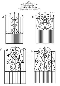 samples of pedestrian gates  with hand forges heart designs