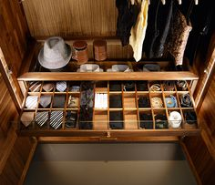 accessories drawer with glass top