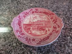 Johnson Brothers (England) Historic America red transfer ware on white round…