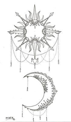 Sonne und Mond Tattoo by MAFcartoons on DeviantArt - tats - Sun and moon tattoo by MAFcartoons on DeviantArt - tats - . Tattoo tattoobi Tattoo Sonne und Mond Tattoo by MAFcartoons on Dev Moon Sun Tattoo, Sun Tattoos, Bild Tattoos, Body Art Tattoos, Sleeve Tattoos, Henna Moon, Tatoos, Sun And Moon Tattos, Female Tattoos