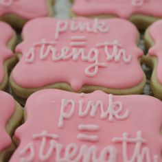 Breast Cancer Party Cookies