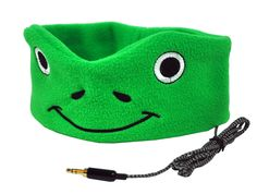 CozyPhones Kids Headphones Volume Limited with Ultra-Thin Speakers & Super Comfortable Soft Fleece Headband - Perfect Children's Earphones for Home and Travel - GREEN FROGGY Toddler Travel, Travel With Kids, Sleep Headphones, Wireless Headphones, Kids Headbands, Clothing Items, The Help, Boy Or Girl, Sunglasses Case
