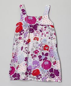 White & Purple Floral Dress - Infant, Toddler & Girls | Daily deals for moms, babies and kids