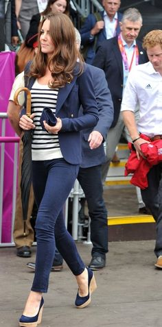 Kate Middleton Skinny Jeans at London 2012 Olympics