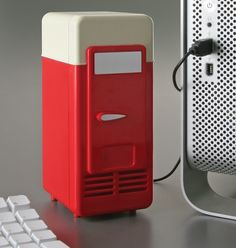 For those who like a cold beverage when working/looking at porn: The USB mini fridge.