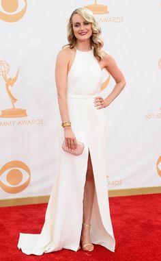 Taylor Schilling   Thakoon Gown   Neil Lane Jewelry   Stuart Weitzman Sandals   Amanda Pearl Clutch   2013 Emmy Awards