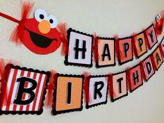 Elmo Birthday Banner Red Orange Elmo Banner by CelebrationBanner on Etsy https://www.etsy.com/listing/156752004/elmo-birthday-banner-red-orange-elmo