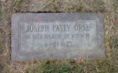 """""""He died because of his wife"""".I hope that means she died and he was heart-broken Cemetery Headstones, Old Cemeteries, Cemetery Art, Graveyards, Gardens Of Stone, The Last Laugh, Famous Graves, Find A Grave, Casket"""