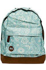 The Floral Backpack in Vintage Blue-Mi Pac Backpacks