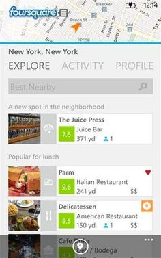 Foursquare now optimized for Nokia Lumia phones – details, download – helps you and your friends find great places and make the most of your visits.
