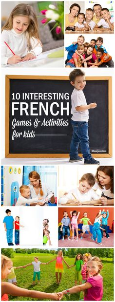 10 Interesting French Games And Activities For Kids Do you want to teach french to your child in a fun way? Here is the list of interesting french games for kids that can make him fall in love with the language. French Games For Kids, Learning French For Kids, French Kids, Ways Of Learning, French Language Learning, Learning People, Language Lessons, Spanish Language, Learning Spanish