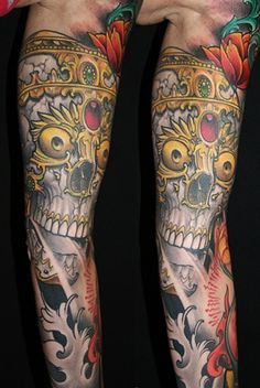 James Tex, Deadly Tattoos inc. - Tibetan skull