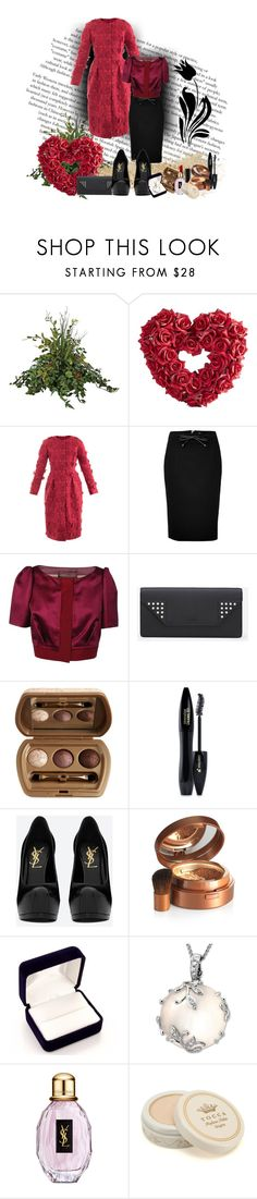 """""""Untitled #167"""" by bety1989 ❤ liked on Polyvore featuring Pier 1 Imports, Giambattista Valli, Burberry, Yves Saint Laurent, Laura Geller, Lancôme, Elizabeth Arden and Mother of Pearl"""