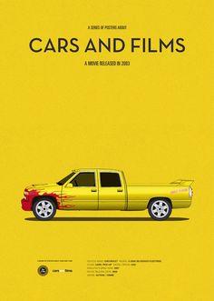 Kill Bill car movie poster, art print Cars And Films, home decor prints, illustration print. Car print - All About Poster S, Car Posters, Movie Poster Art, Poster Prints, Kill Bill Movie, Film Home, Minimal Movie Posters, Design Poster, Illustration