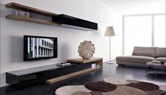 living room tv wall mount Modern Living Room with Slim Wall Mounted TV Unit Design Dream rfag9m6T