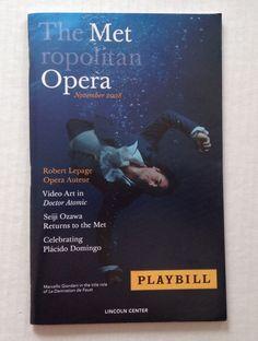 2008 2009 MET Metropolitan Opera Playbill Madama Butterfly Puccini November Book