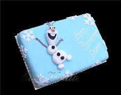 Gâteau OLAF Reines des Neiges