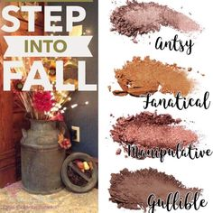 Younique Pressed Shadow Step Into Fall Quad Palette Fall Eyeshadow Looks, Fall Makeup Looks, Quad, Contour Makeup, Makeup Eyeshadow, Contouring, Palette, Younique Eyeshadow, Eyeshadows