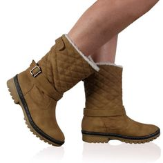 Calf Boots, Winter Boots, Boot Heels, Faux Fur, Camels, Sole, Snow Boots  Outfit, Camel, Heeled Boots