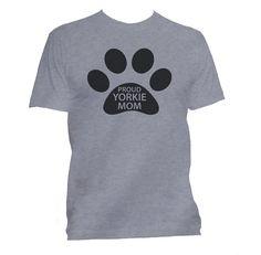 Yorkie Mom t shirt Yorkie tee Yorkie t-shirt by HappyInkTShirts $18