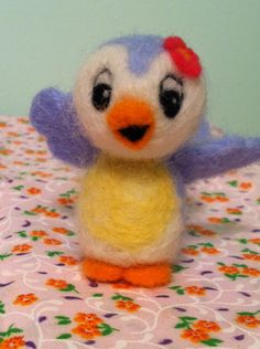 Needle felted Bluebird of Happiness by MelaniesMenagerie on Etsy