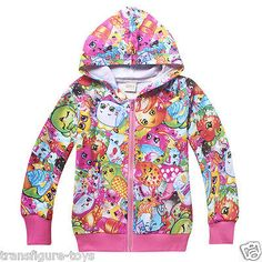 kids girls SHOPKINS clothing top hoodie thin jacket tracksuit outfit size 6-10 in Clothing, Shoes, Accessories, Girl's Clothing, Jackets, Coats | eBay